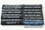 Left Rear Speaker Heat Shrink (Pack of 25) - Sky High Car Audio
