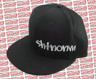 SHTNONM Black / White Snap Back Hat