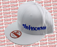 SHTNONM White / Blue Snap Back Hat