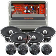 **Package Deal** |  2 Set of EVIL1 Tweeters & EVIL6.5 Mids & IC150.4 4 Channel Amplifier