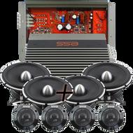 **Package Deal** |  2 Set of EVIL1 Tweeters & EVIL6.5 Mids & IC150.4 4 Channel Amplifier