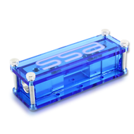 Machined aluminum Single ANL fuse block - Blue