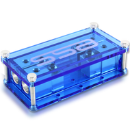 Machined aluminum Dual ANL fuse block - Blue