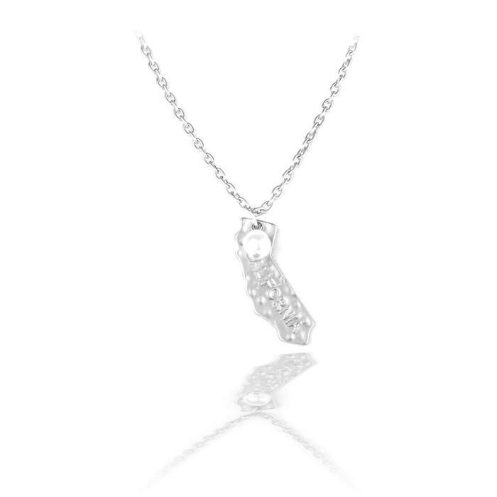 silver California necklace
