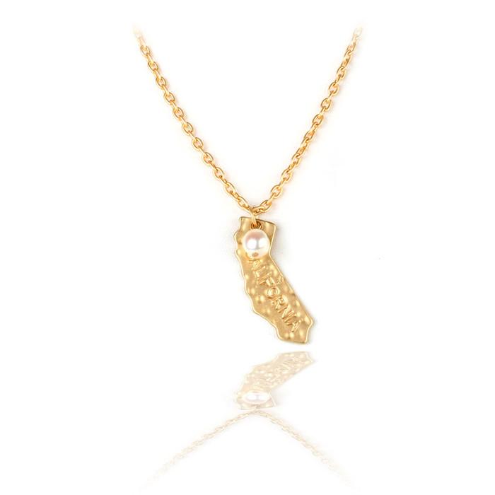 golden California necklace