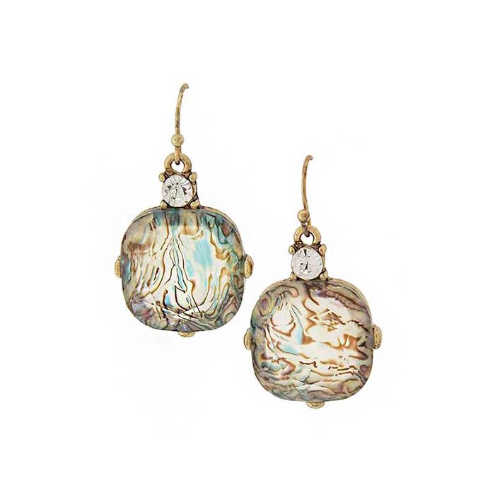 Kylie swirl drop earrings with crystal detail