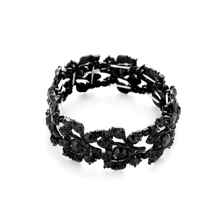 stunning black-on-black crystal bracelet