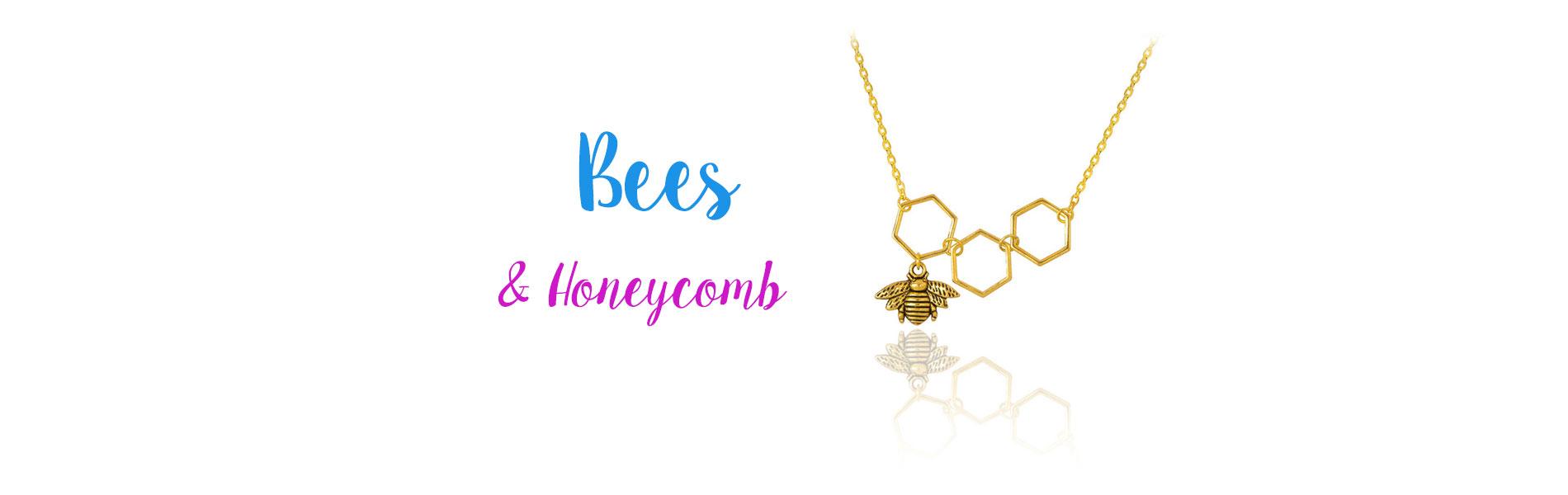 Bee & Honeycomb jewelry