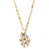 bejeweled golden hashtag necklace