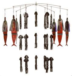 Fire Tailz Marlin Rubber Squid Fishing Dredge