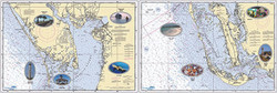 Small Boat/Kayak Inshore Placemat, double sided, laminated, 12 x 18 inches, Florida