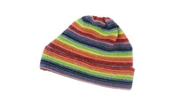 Ladies Lambswool Stripe Beanie Hat (#13)