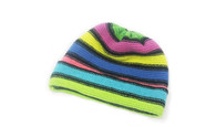 Ladies Lambswool Stripe Beanie Hat (#51)