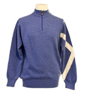 Gents Saltire Zip-Neck Sweater
