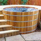 Cedar Hot Tub Japanese Soaking Tubs Free Standing Bathtubs - Outdoor japanese soaking tub