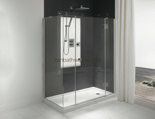 Zen Shower shown with Fen faucet set