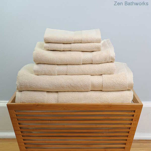 Organic Towel 6 pc Set - Candlelight color