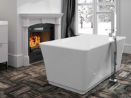 London freestanding bathtub with Fen faucets