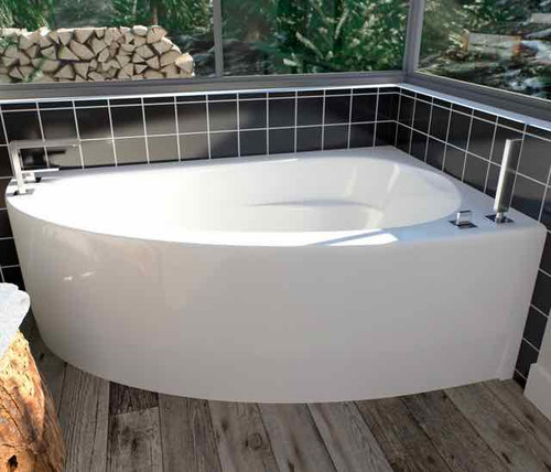 Wind bath with left drain