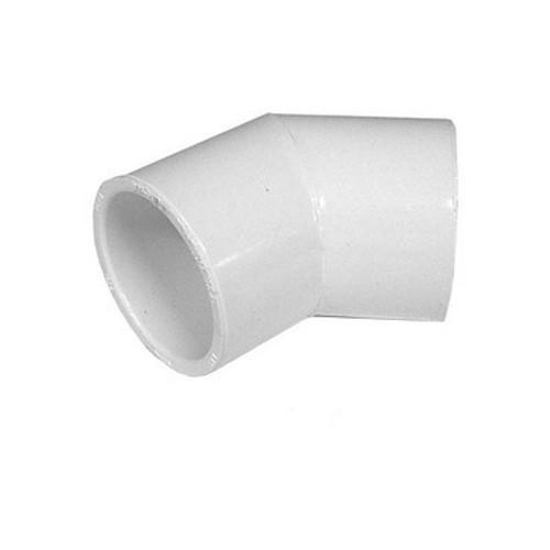 """White PVC Elbow - 1"""" Slip, 45 Degrees"""