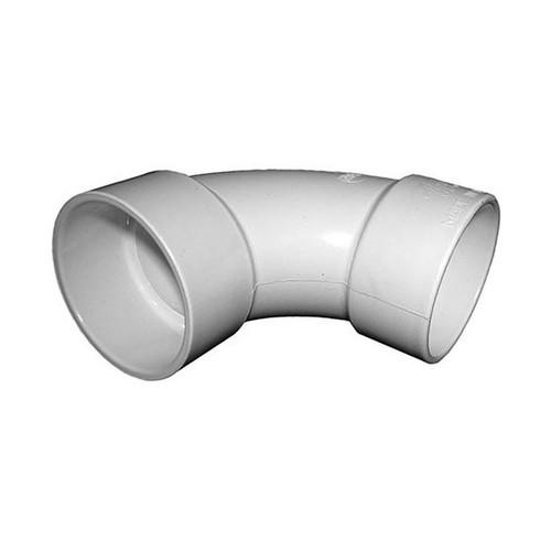 """White PVC Sweep Elbow - 2"""" Slip x 2"""" Slip"""