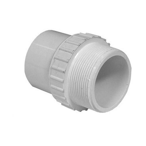 """PVC Male Adapter - 1-1/2"""" Spigot x 1-1/2"""" MPT"""