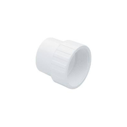 "White PVC Female Adapter - 1-1/2"" Spigot x 1-1/2"" FPT"