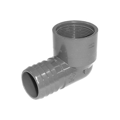 "PVC Insert Fitting Elbow - 1-1/2"" Barb x 1-1/2"" FPT"