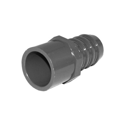 "PVC Insert Fitting Adapter - 1""SP x 1"" Barb"