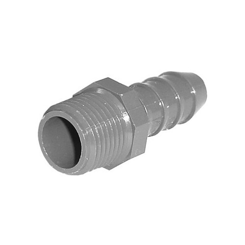 "PVC Insert Fitting Male Adapter - 1/2"" Barb x 1/2"" MPT"