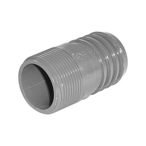 "PVC Insert Fitting Male Adapter - 1-1/2"" Barb x 1-1/4"" MPT"