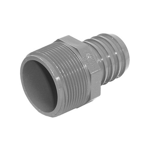 "PVC Insert Fitting Male Adapter - 1-1/4"" Barb x 1-1/2"" MPT"