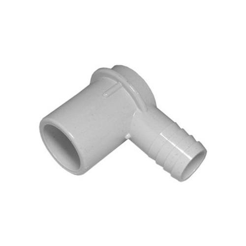 """PVC Elbow - 1"""" Spigot x 3/4"""" Barb"""