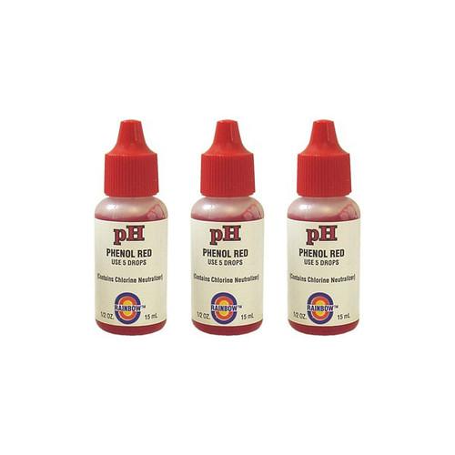 Value Pack - 3x Phenol Red Test Reagent (1/2oz.)