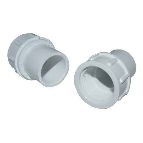 "PVC Female Adapter - 1"" Slip x 3/4"" FPT"