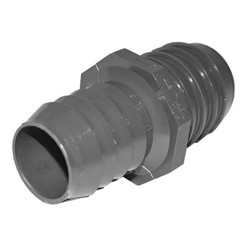 "PVC Reducing Coupling - 1-1/2"" x 1-1/4"" Barbed"