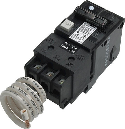 Siemens 30 Amp Double Pole GFCI Breaker only