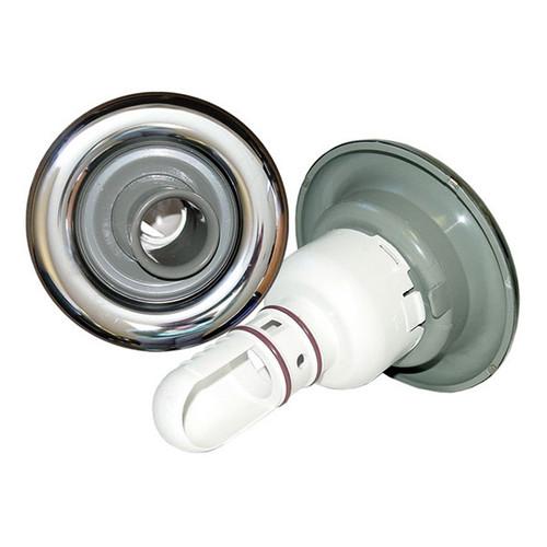 """Waterway 5"""" Directional Adjustable Whirlpool Jet - Grey - S/S"""