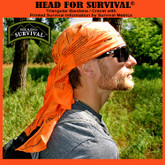 Survival Metrics Head for Survival Bandana Orange