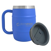 Eco Vessel Double Barrel Insulated Beer Coffee Mug 500mL Blue
