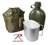 Rothco 3pc Canteen Kit with Cover and Aluminum Cup