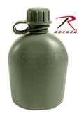 Rothco Genuine G.I. 3pc 1 Quart Olive Drab Plastic Canteen