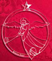 Acrylic Ornament: Angel with a Trumpet