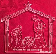 Acrylic Ornament: Nativity