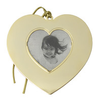 Goldtone Blank Heart Frame