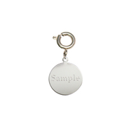 Engraved Round Charm