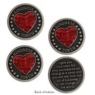 Heart Kindness Tokens, Set of 3
