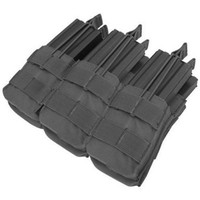 Tactical Molle Triple Stacker M4 Mag Pouch - Black