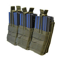 Tactical Molle Triple Stacker M4 Mag Pouch - OD