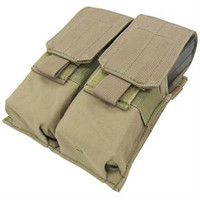 Tactical Molle Double Closed Top M4 Mag Pouch - Tan